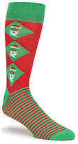 Daniel Cremieux Holiday Stripe Argyle Crew Socks