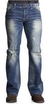 Affliction Men's Cooper Relaxed Bootcut Ripped Jeans