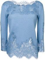 Ermanno Scervino lace trim blouse - women - Silk/Cotton/Polyamide/Wool - 38