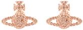 Vivienne Westwood Women's Grace Bas Relief Stud Earrings Pink Gold