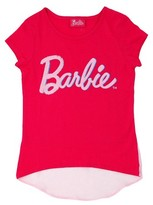 Barbie Girls' T-Shirt with Chiffon Hem - Pink