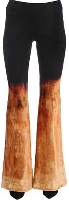 Balmain GRADIENT BLEACHED VELVET FLARED PANTS