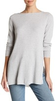 Michael Stars Ribbed Boatneck Tunic Sweater