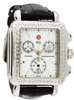 Michele Diamond Deco Watch W/ Alligator Strap
