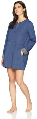 Carole Hochman Women's Short Zip GEO Quilt Robe