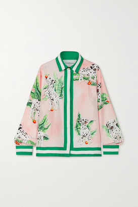 Casablanca Printed Silk-twill Shirt - Pink