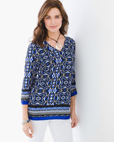 Chico's Geometric Stripe Tunic