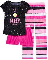 Total Girl 3-pc. Kids Pajama Set Girls