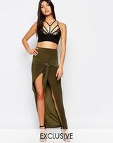 Club L Slinky Knot Detailed Skirt