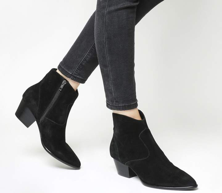 3ae5613fc40 Heidi Bis Ankle Boots Black Soft Suede