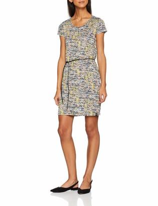 Scotch & Soda Maison Women's Straight Fit Printed Tee Dress with Burnout Animal Pattern