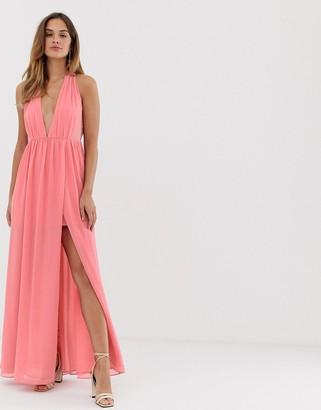French Connection maxi dress with split detail