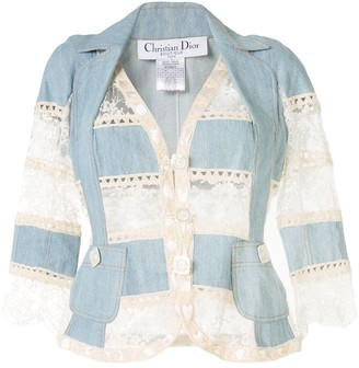 Christian Dior Lace Panels Denim Jacket