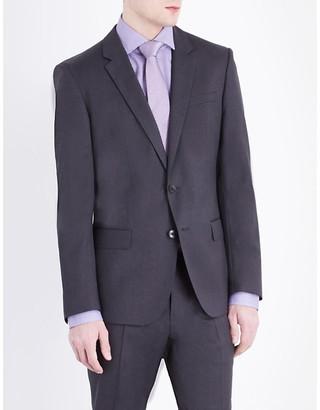 BOSS Men's Black Hugo Hayes Wool Jacket, Size: 40