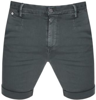 Replay Lehoen Denim Shorts Green