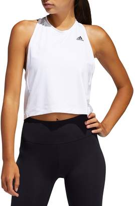 adidas Cropped Twist-Back Tank Top
