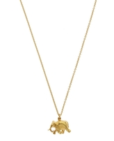 Alex Monroe Gold-Plated Indian Elephant Pendant Necklace