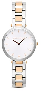 Rebecca Minkoff Nina T-Bar Two-Tone Watch, 33mm