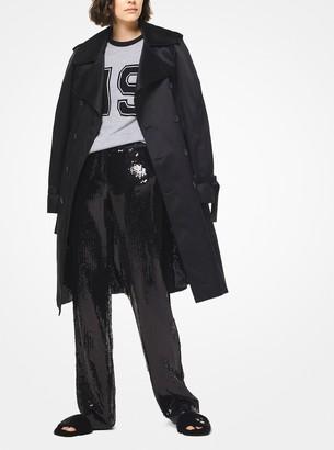 Michael Kors Techno Duchesse Satin Trench Coat