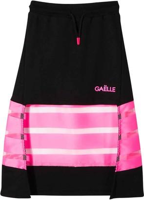 Gaelle Bonheur Black And Fuchsia Skirt Kids Teen