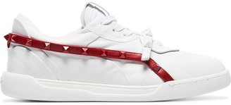 Valentino Rockstud Armour studded leather sneakers