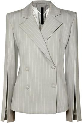 Gareth Pugh Pinstriped Wool-blend Blazer