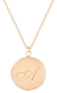 brook & york 14K Rose Gold Plated Isla Initial Long Locket Necklace