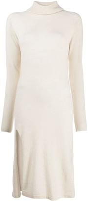 Laneus Slit-Hem Sweater Dress
