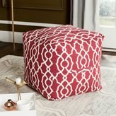 Safavieh Vivienne Cullen Ottoman in Red/White