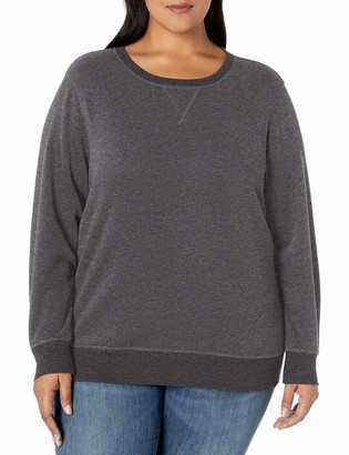 Amazon Essentials Plus Size French Terry Fleece Crewneck Sweatshirt Hooded