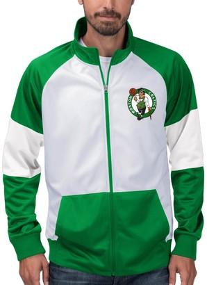 G Iii Men's G-III Sports by Carl Banks Kelly Green/White Boston Celtics Warm Up Colorblock Full-Zip Track Jacket