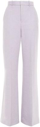 Joseph Jess Brushed Herringbone Wool-blend Wide-leg Pants