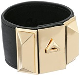 Sam Edelman Wide V Lock Leather Bracelet