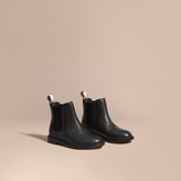 Burberry Grainy Leather Chelsea Boots