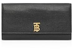 Burberry Monogram Motif Grainy Leather Continental Wallet
