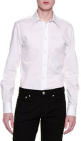 Alexander McQueen Basic Long-Sleeve Sport Shirt, White
