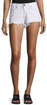 Rag & Bone Cutoff Denim Shorts, White Freeport