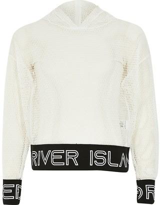 River Island Girls RI Active mesh hoodie