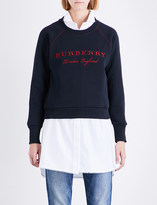 Burberry Torto embroidered cotton-blend jersey sweatshirt