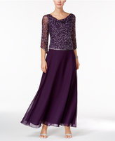 J Kara Beaded Tea-Length Dress