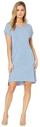 Tommy Bahama Cassia Stripe T-Shirt Dress (Turkish Sea) Women's Dress