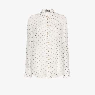 Balmain polka dot sheer silk shirt