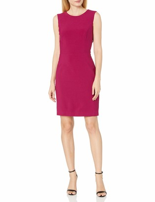 Nicole Miller Women's Stretchy Tech Cross Back Dress