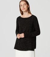 LOFT Petite Mixed Media Side Ribbed Sweater