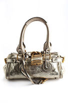 Chloé Gold Metallic Leather Small Lock Flap Satchel Paddington Handbag BY4867CHL