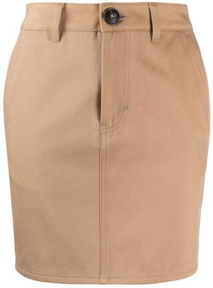 Ami Cotton Mini Skirt