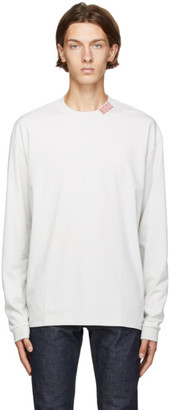 HUGO BOSS Off-White Dotch Long Sleeve T-Shirt