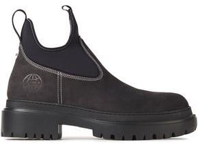 McQ Tryb Neoprene-paneled Nubuck Ankle Boots