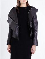 Yang Li Fran asymmetric leather jacket