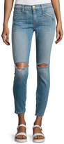 Current/Elliott The Silverlake Zip Cropped Skinny Jeans, Ticker Destroy